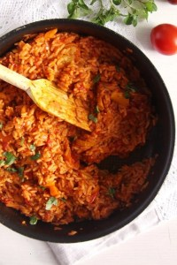 %name Vegan and Healthy Tomato Rice with Zucchini and Carrots