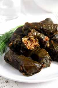 %name Vegan Stuffed Vine Leaves with Rice and Mushrooms
