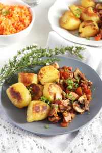 %name Potatoes with Bacon, Ham and Vegetable Sauce – Gypsy Recipe
