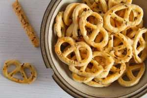 %name Romanian Cheese and Caraway Seed Pretzels or Sticks