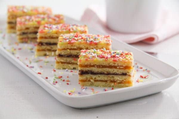 Layered Cake with Jam Filling – Romanian Cake Harlequin
