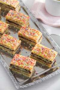 %name Layered Cake with Jam Filling – Romanian Cake Harlequin