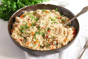 %name Simple Chicken and Vegetable Pilaf – Romanian Recipe