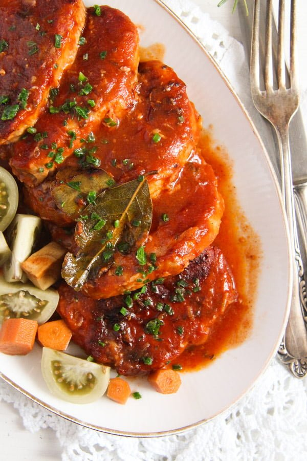 pork roast ed 2 Easy Roasted Pork in Garlic, Tomato and Paprika Sauce