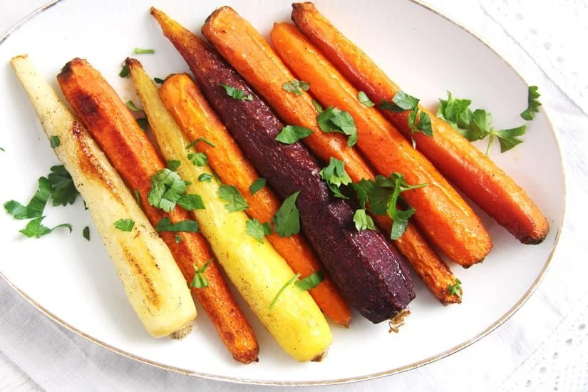 roasted carrots The Easiest Recipe for Whole Roasted Carrots with Olive Oil