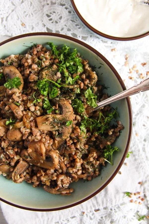 kasha 5 Roasted Buckwheat with Mushrooms and Onions – Polish Kasha