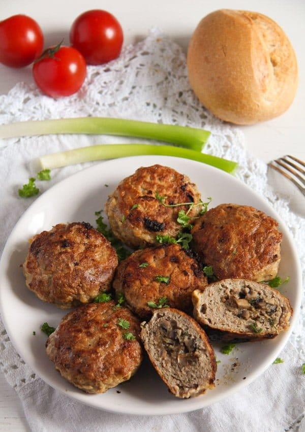 mushroom stuffed meatballs 3 Skillet Mushroom Stuffed Meatballs with Herbs – Polish Recipe
