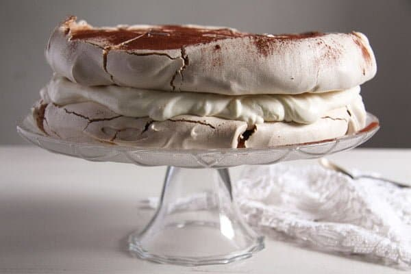 polish bezowy torte 1 Meringue Cake with Mascarpone Filling – Polish Bezowy Torte