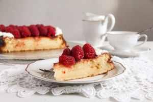 %name Heart Shaped Cheesecake with Raspberries and Whipped Cream