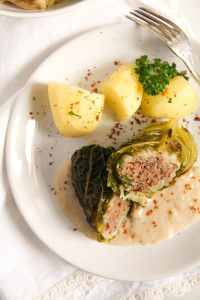 %name Easy Stuffed Savoy Cabbage with Minced Meat – German Recipe