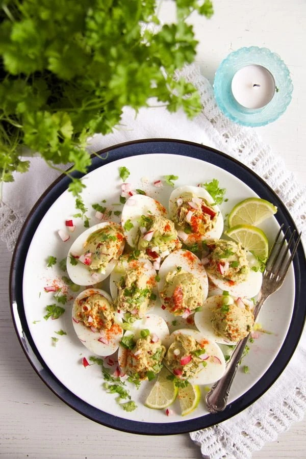 deviled eggs guacamole 13 Deviled Eggs with Mexican Avocado/ Guacamole Filling