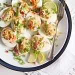 %name Deviled Eggs with Mexican Avocado/ Guacamole Filling