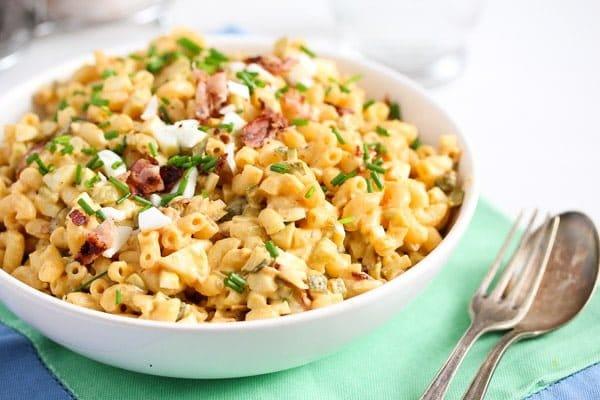 macaroni salad with eggs