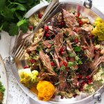 %name Slow Cooked Shoulder of Lamb with Mint Pomegranate Yogurt