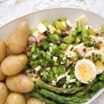 %name Asparagus Salad with Hard Boiled Eggs and Ham
