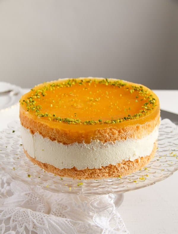 passion fruit cream cake 2 Passion Fruit or Maracuya Juice Cheesecake with Quark and Cream