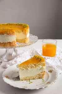 %name Passion Fruit or Maracuya Juice Cheesecake with Quark and Cream