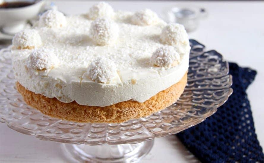 raffello coconut cake 2 Easy Pineapple Coconut Cream Cake with Raffaello