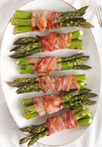 %name Bacon Wrapped Asparagus   Oven Baked Asparagus Recipe