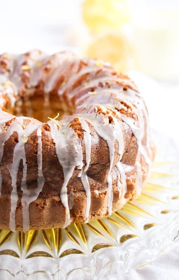 limoncello cake 2 Limoncello Cake with Lemon Glaze – Bundt Cake Recipe