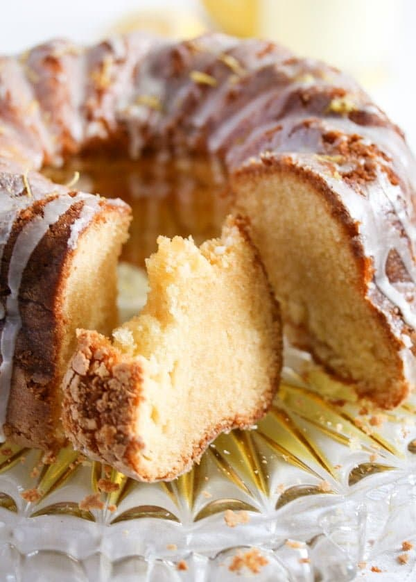 limoncello cake 6 Limoncello Cake with Lemon Glaze – Bundt Cake Recipe