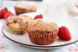 %name Strawberry Muffins with Yogurt and White Chocolate