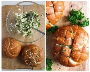 %name Mozzarella Garlic Pull Apart Bread Rolls