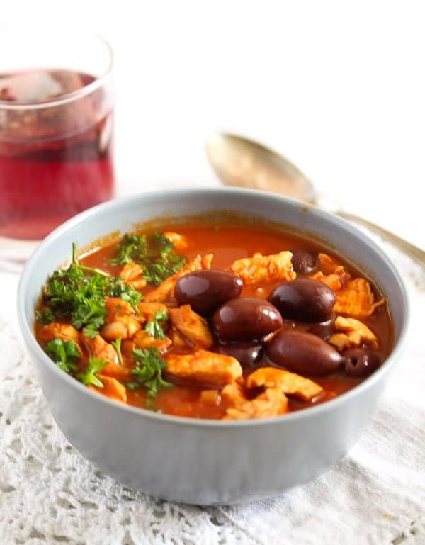 morrocan chicken stew 24 Chicken Stew with Olives and Tomatoes – Moroccan Food