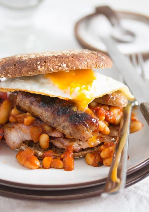 Full english breakfast english food with baked beans recipe english breakfast 1 full english breakfast english food with baked beans recipe forumfinder Images
