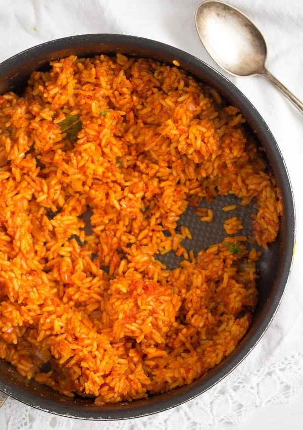 jollof rice 5 Spicy Jollof Rice with Tomatoes – Nigerian Food
