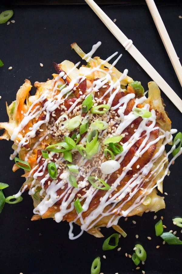 okonomiyaki 1 Okonomiyaki – Japanese Cabbage Pancakes – Japanese Food