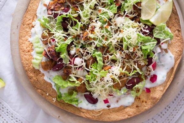 tostadas 6 Tostadas with Chorizo and Beans – Mexican Food
