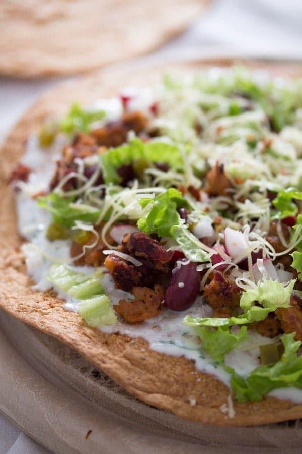 tostadas 7 Tostadas with Chorizo and Beans – Mexican Food