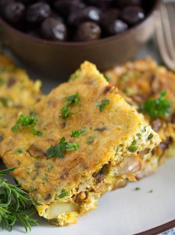 tunisian tajine 7 Tunisian Tajine – Frittata with Chicken and Potatoes – Tunisian Food