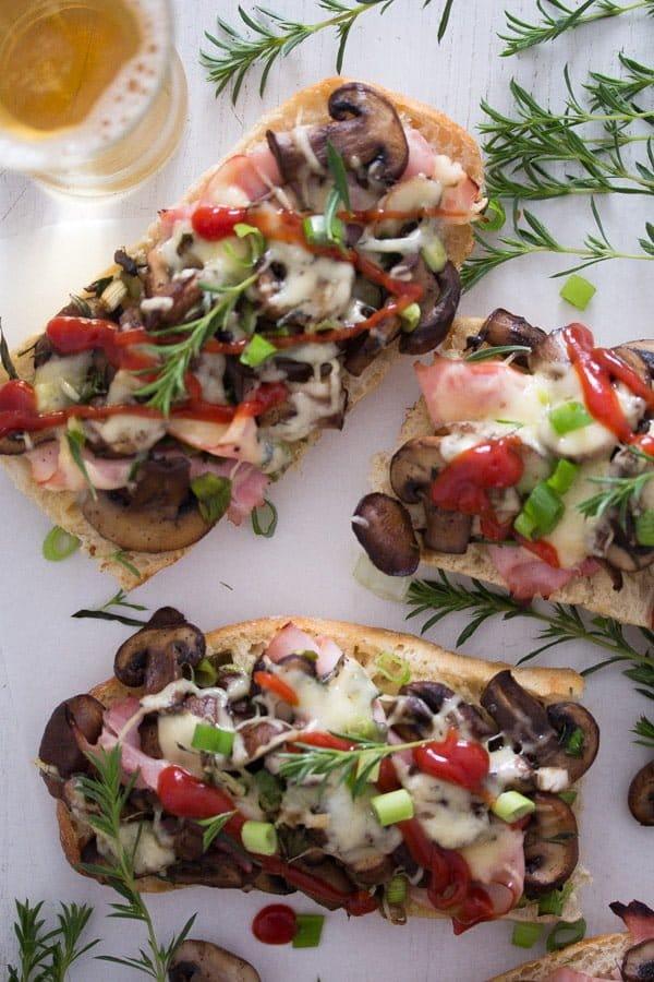 polish open sandwich 4 Zapiekanka   Toasted Mushroom and Cheese Sandwich – Polish Food