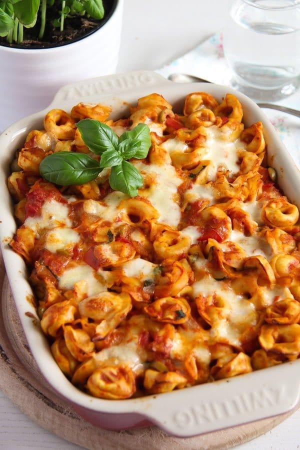 tortellini casserole 4 4 Easy Baked Tortellini with Tomatoes, Mozzarella and Basil