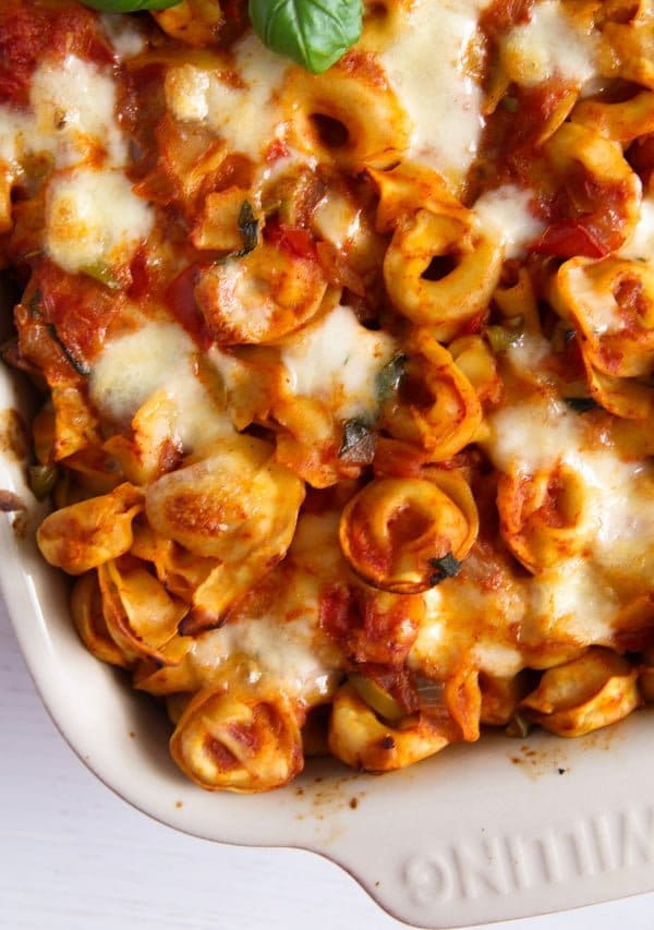 tortellini casserole 5 5 Easy Baked Tortellini with Tomatoes, Mozzarella and Basil