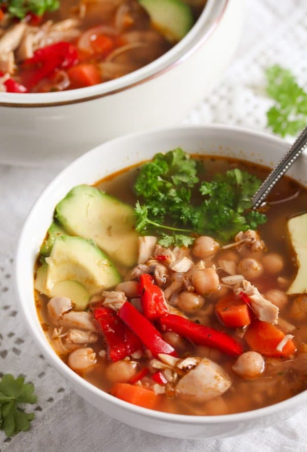 IMG 6445 Mexican Chicken Soup with Avocado and Chickpeas