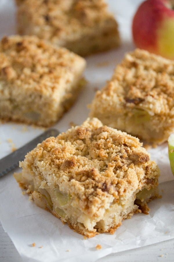 apple cake with streusel 7 Apple Crumble Cake with Sour Cream – German Apple Streusel Cake