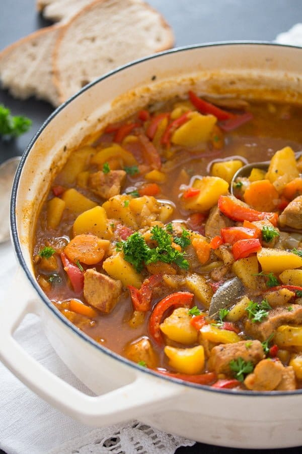pork stew 6 Easy Pork Stew Recipe – Hungarian Goulash with Pork and Potatoes