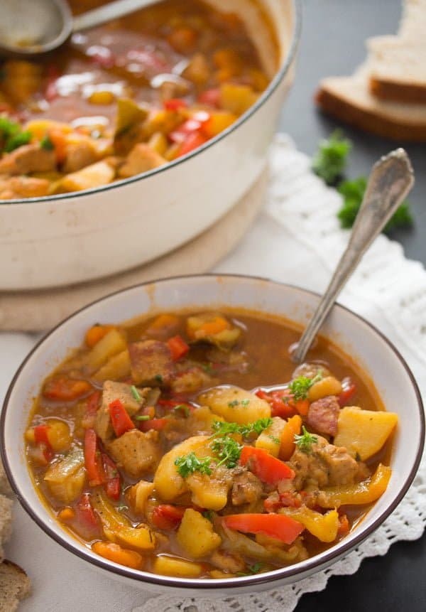 pork stew 9 Easy Pork Stew Recipe – Hungarian Goulash with Pork and Potatoes