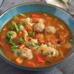 %name Meatball Soup Recipe with Cabbage and Black Beans