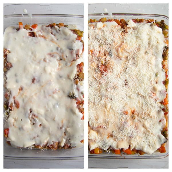 how to make lasagna 3 2 Vegetable Lasagna with White Sauce (or Bechamel Sauce)