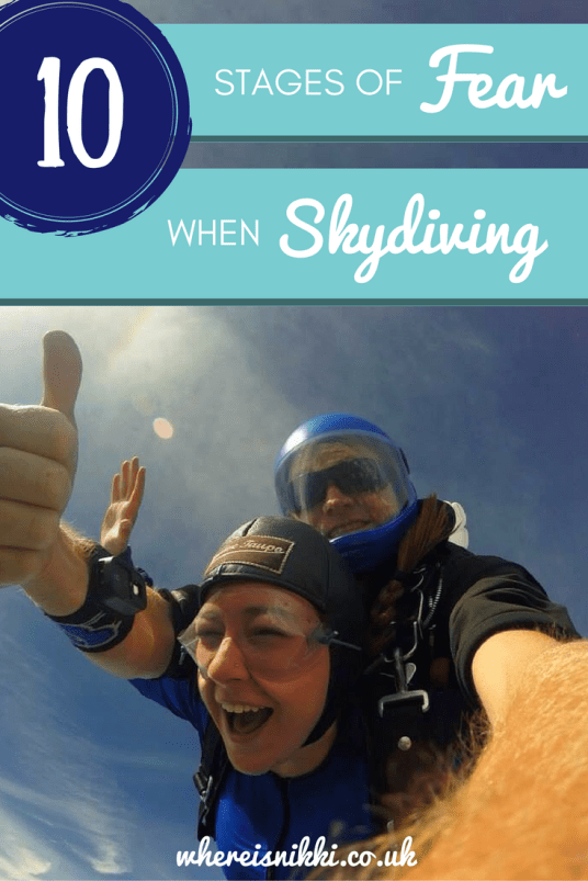 The 10 Stages of Fear When Skydiving