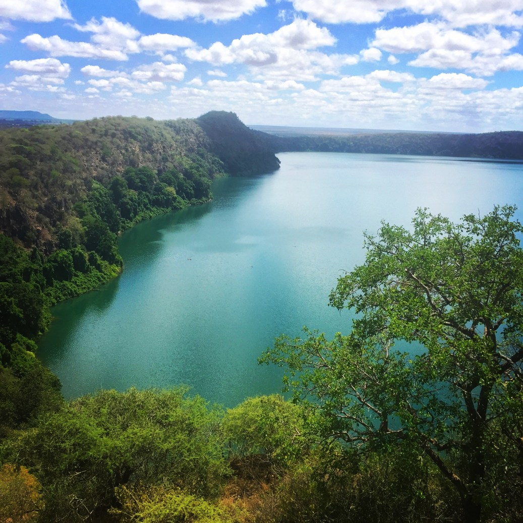 Views of Lake Chala, near Moshi, Tanzania