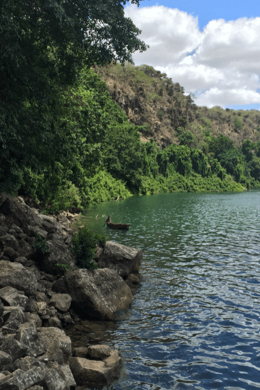Views of Lake Chala in Tanzania