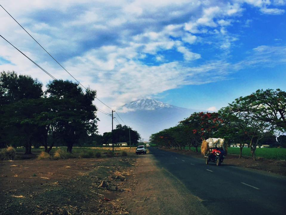 Views of Mount Kilimanjaro, just outside of Moshi, Tanzania