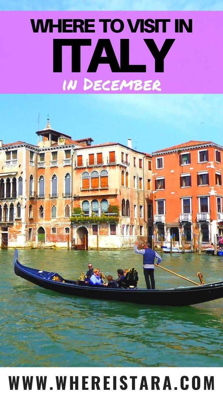 italy in December Venice pin