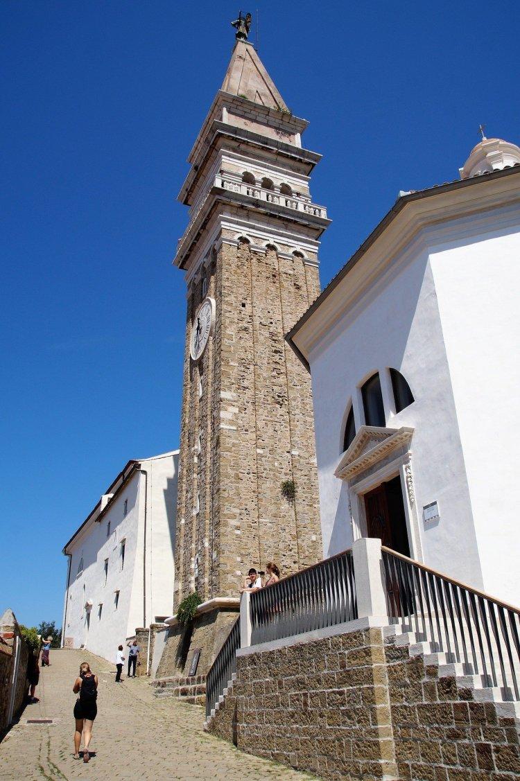 Piran Church Slovenia bucketlist Slovenia must see best things to do in Slovenia