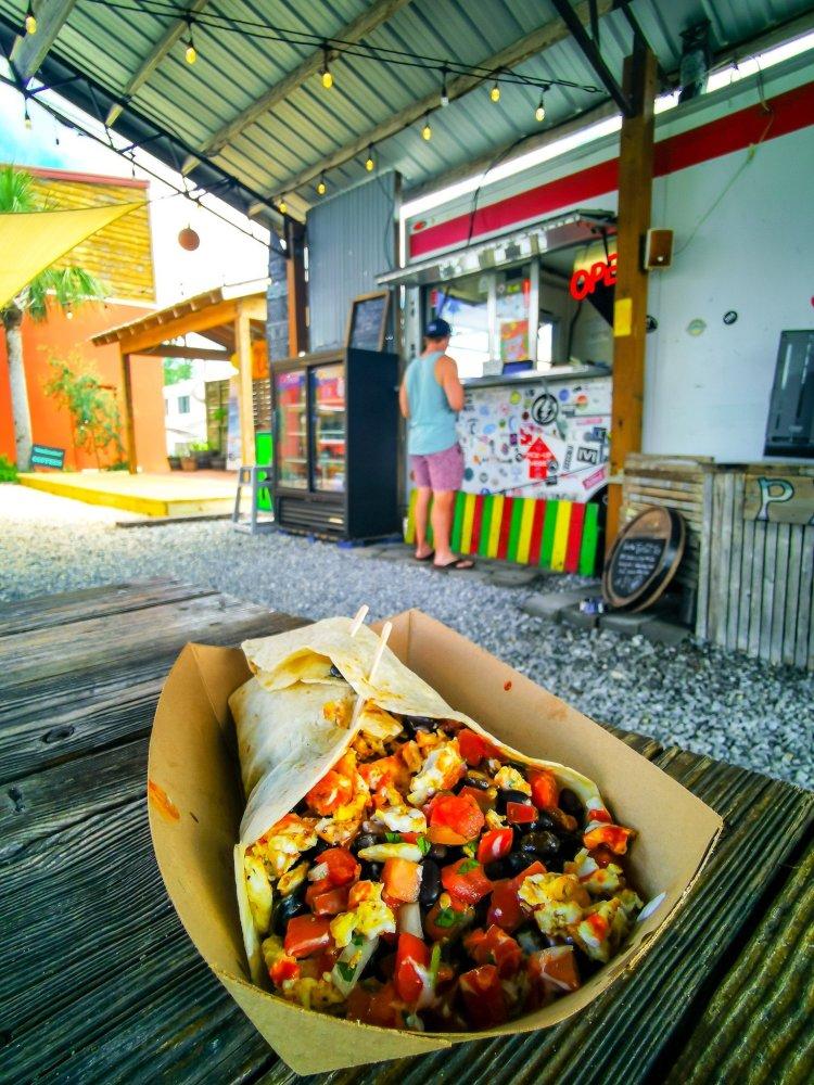 breakfast at Finns in Panama City Beach Florida